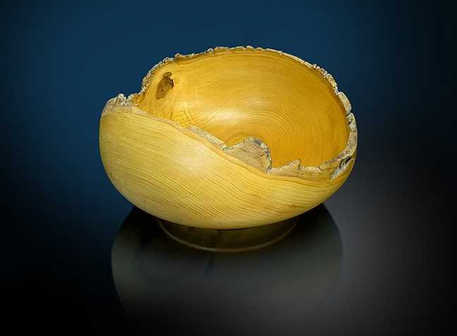 Natural Edge Ash Bowl Large