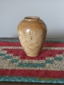Maple hollowed vase